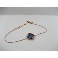Pulsera Plata Azul